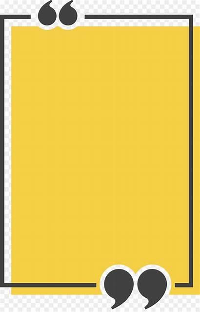 Rectangle Box Yellow Text Icon Frame Quotation