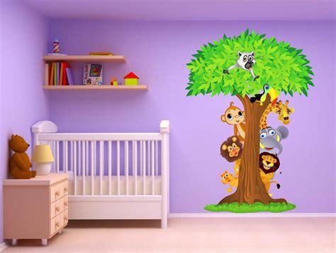 chambre bébé animaux stickers chambre bebe jungle chaios com