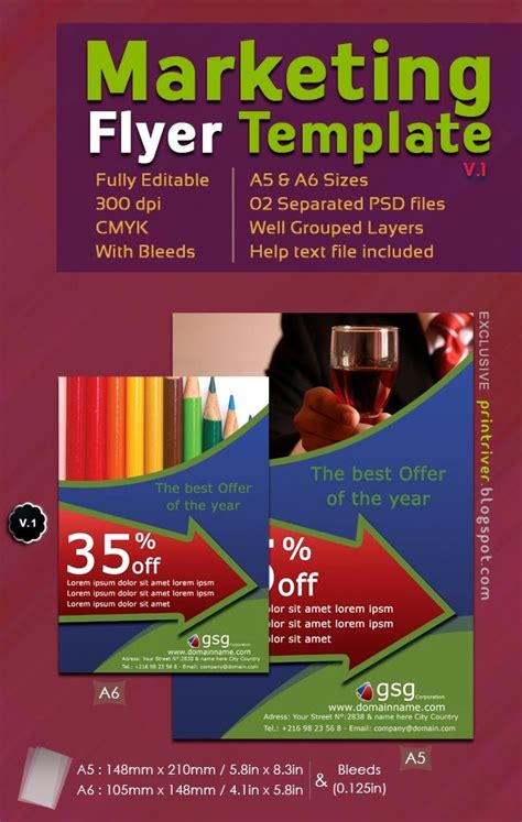 marketing flyer template 60 free psd poster and flyer templates updated