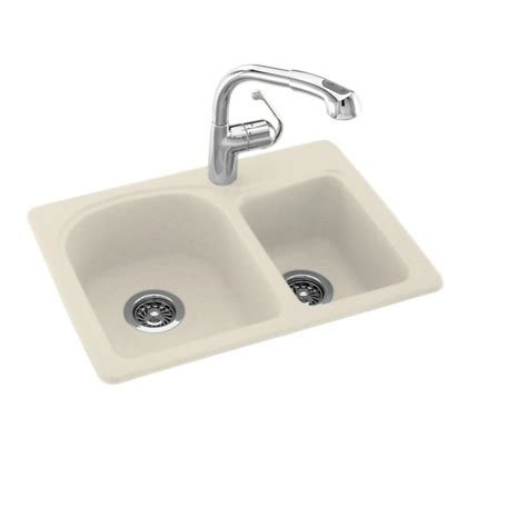 corian kitchen sinks reviews swan drop in undermount solid surface 25 in 1 60 40 5810