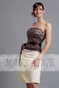 robe de mariã e bustier robe bustier beige chocolat robe de cocktail maysange