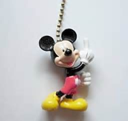 new disney mickey mouse figural ceiling fan light pull