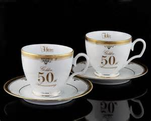 50th wedding anniversary gift shared memories gifts australia 50th anniversary cup and saucer set personalised