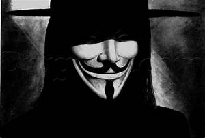 How to Draw V From V for Vendetta, Step by Step, Movies ...