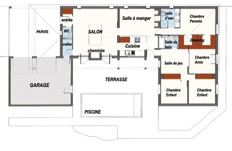 plan maison moderne d architecte