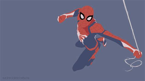 Spiderman Ps4 Minimalist, Hd Superheroes, 4k Wallpapers