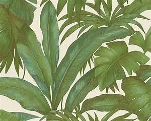tapete vlies blatter grun creme as creation versace 96240 5 With markise balkon mit tapet versace
