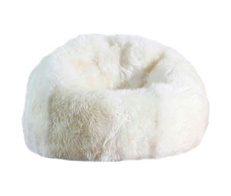 sheepskin bean bag chair designer colors large 3 unfilled