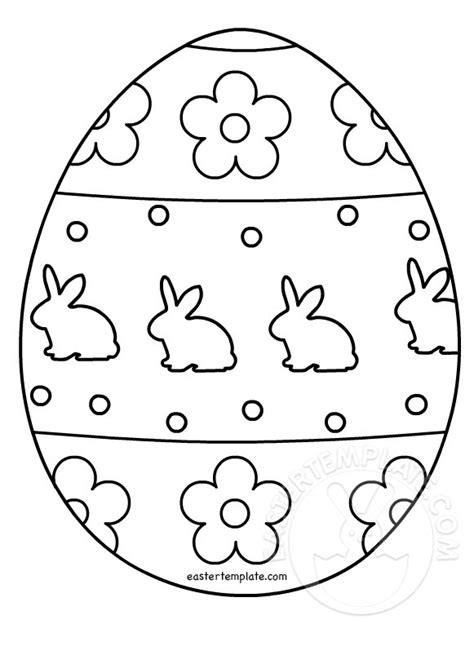Easter Egg Template Easter Egg Colouring Page Easter Template