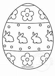 easter egg colouring page easter template With easter picture templates