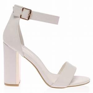 White Heels Ankle Strap | Mad Heel