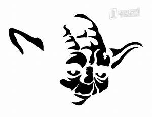 Download your free Yoda Face Stencil here. Save time and ...