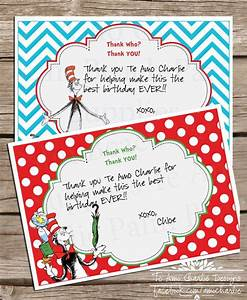 printable dr seuss cat in the hat thank you cards dr With dr seuss birthday card template