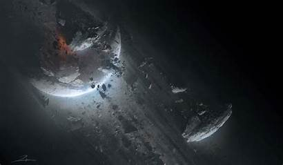Titanfall Bui Moon Planet Concept Tu Shattered