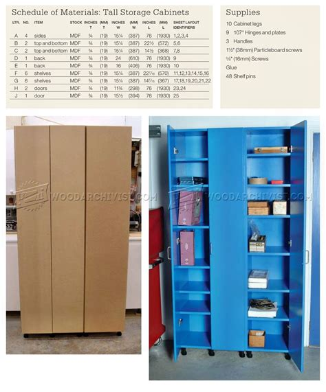 tall storage cabinet plans woodarchivist