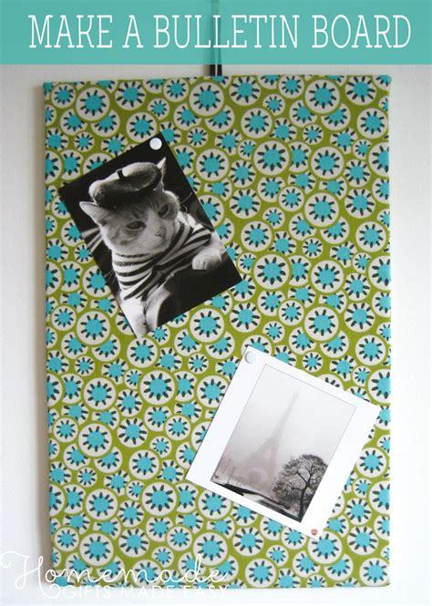 bulletin board easy fabric memo board instructions