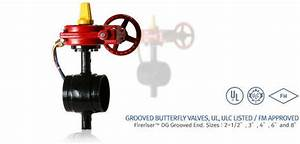 4 U0026quot  Grooved Butterfly Fire Protection Valve With Tamper