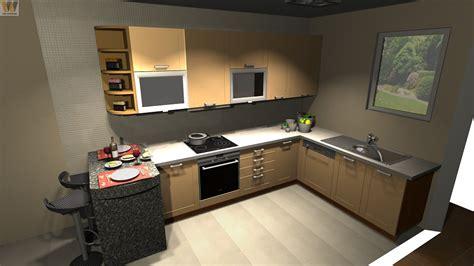 cuisine en l cuisine moderne en forme de l