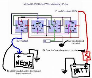 Latching Relay  And Momentary Switch