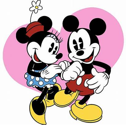Minnie Mickey Clipart Mouse Classic Valentine Cliparts