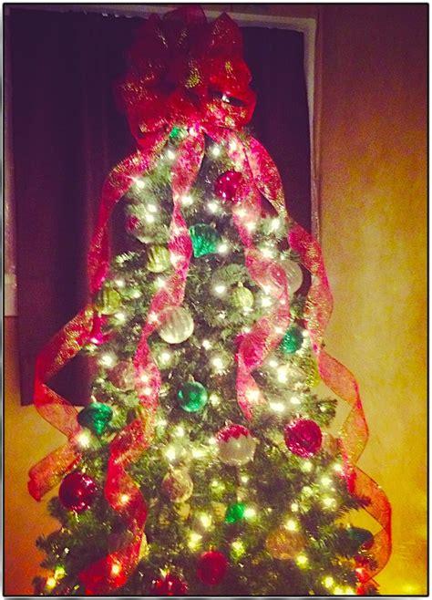 ribbon tree topper christmas pinterest