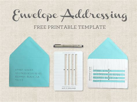envelope address template free printable envelope addressing template