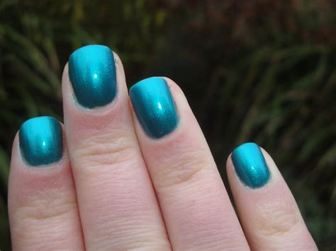 morning metallic teal nail varnish dupes