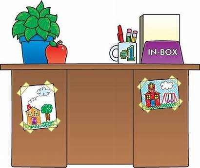 Desk Clipart Teacher Table Plan Classroom Iep