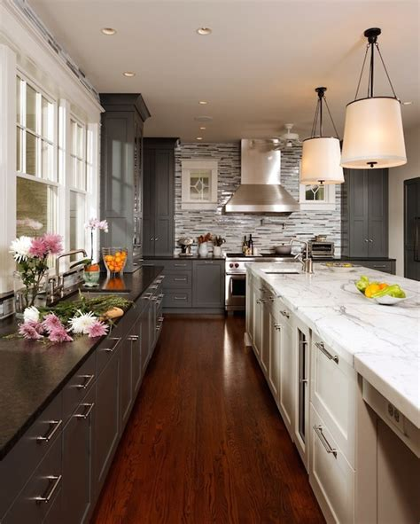 labrador antique granite transitional kitchen studio