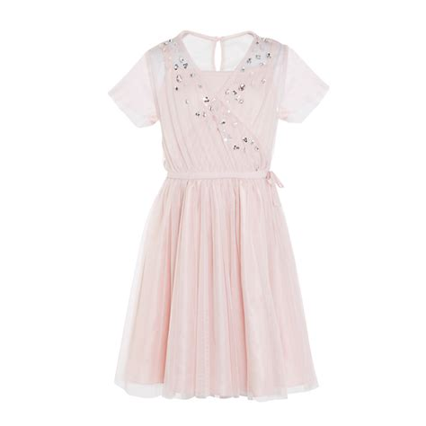 pink flower girl dresses chwv