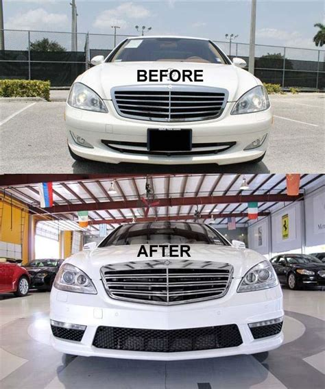 find s550 front bumper s class w221 07 13 s65 s63 amg style kit drl fog light w motorcycle