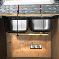 how to install sink clips install undermount sink in granite countertop 1 rona
