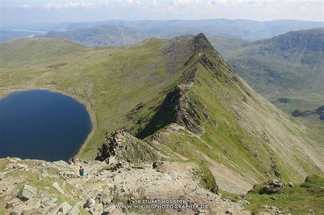 Helvellyn via Striding Edge walk Lake District The