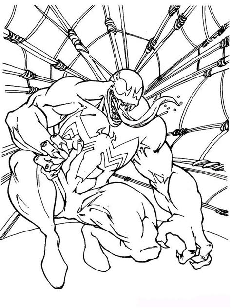 venom coloring pages   print venom coloring pages