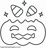 Candy Coloring Corn Pages Halloween Sheet Pumpkin Printable sketch template