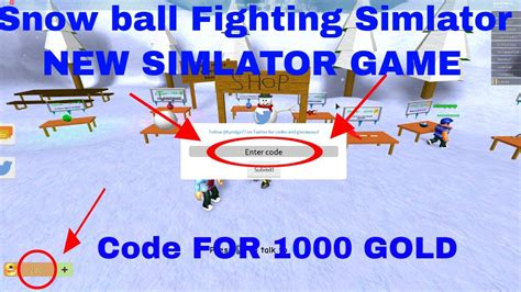 codes snow ball fighting simulator  gold doovi