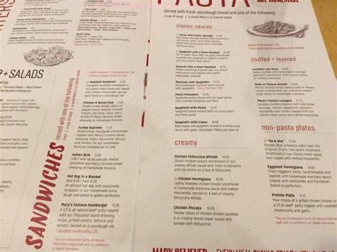 menu  marys pizza shack restaurant dixon