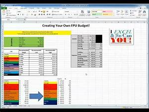 Add Function In Excel Create Your Own Monthly Budget In Excel Youtube