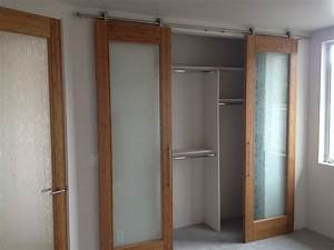 contemporary barn style sliding closet doors With barn door look closet doors