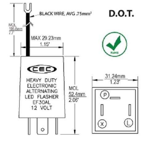 Wig Wag Flasher Relay Wiring Diagram by Cec Industries Ef30al Electronic Wig Wag Alternating