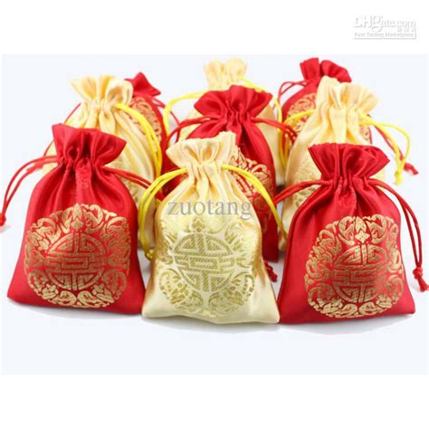 cheap drawstring wedding favors candy bags samll gift