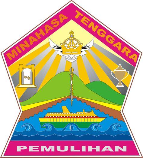 logo kabupaten minahasa tenggara kumpulan logo indonesia