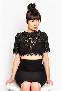 Lace Blossom Crop Top by CUGGO | CROP TOP OUTFITS u0026 BLACK MAXI DRESS | SUMMER PARTY OUTFIT ...