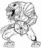 Horde Evil Leech Coloring sketch template