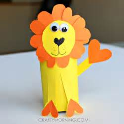 Lion Toilet Paper Roll Craft