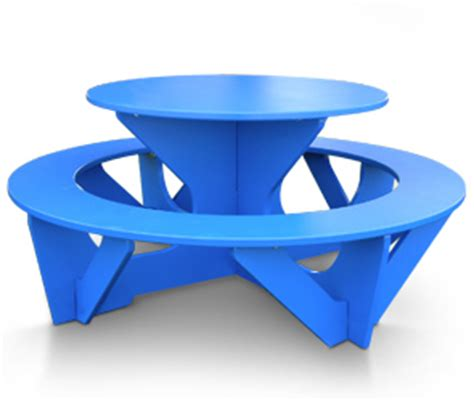 kids plastic picnic table kids round recycled plastic activity play picnic table