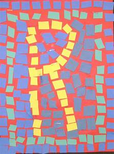 Mosaic tile letters thetravelingartist for Mosaic letter tiles