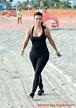 Kim Kardashian on the Morning Walk on a Beach in Miamii ...