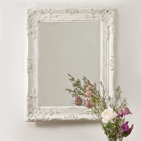 shabby chic white mirrors vintage shabby chic white cream french ornate wall mirror rococo country wedding shabby chic