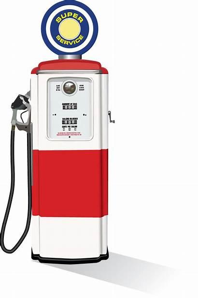 Pump Gasoline Fuel Gas Retro Clipart Clip
